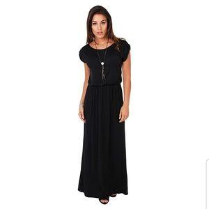 Dresses & Skirts - NWOT Maxi Dress | High Waisted Short Sleeve Black